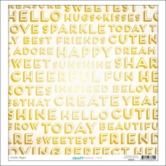 Crate Paper Paper Sheet Inspired Gold Foil Craft Market Collection
