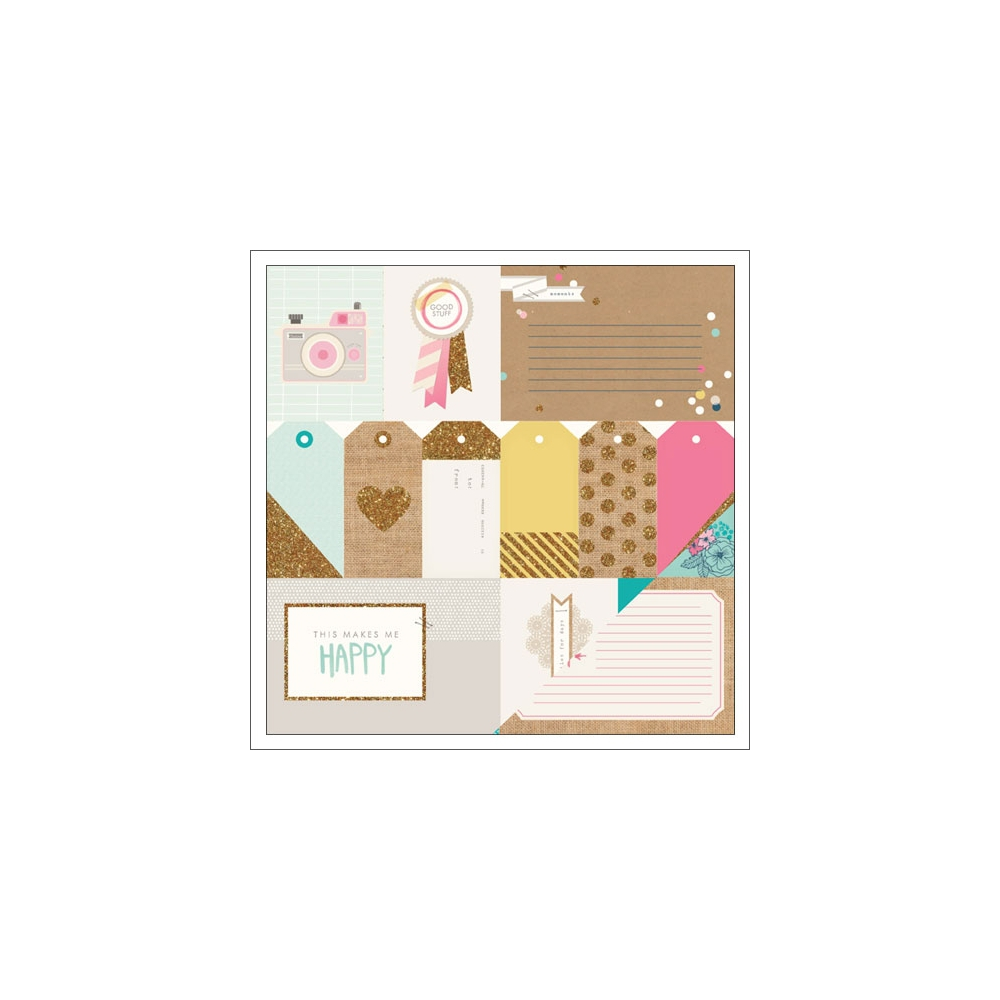 Crate Paper Paper Sheet Project Gold Glitter Craft Market Collection