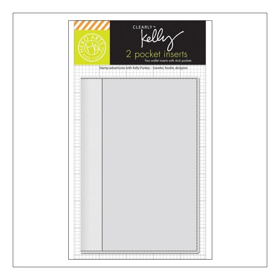 Hero Arts Kellys Wallet Pocket Insert 4 x 6 inches Clearly Kelly Collection by Kelly Purkey