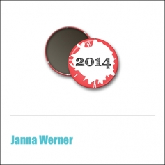 Scrapbook and More 1 inch Round Flair Badge Button Red 2014 by Janna Werner