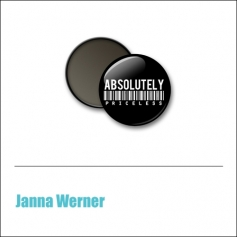 Scrapbook and More 1 inch Round Flair Badge Button Black Absolutely Priceless by Janna Werner