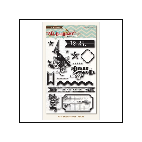 My Minds Eye Clear Stamps All is Bright Collection by Rhonna Farrer