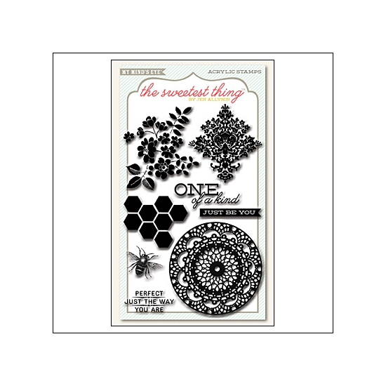 My Minds Eye Clear Stamps Honey Happiness The Sweetest Thing Collection