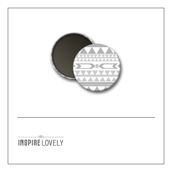 Scrapbook and More 1 inch Round Flair Badge Button Grey Pattern by Debee Ruiz Inspire Lovely