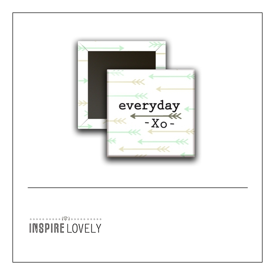Scrapbook and More 1 inch Square Flair Badge Button Everyday XO by Debee Ruiz Inspire Lovely