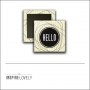 Scrapbook and More 1 inch Square Flair Badge Button Hello by Debee Ruiz Inspire Lovely