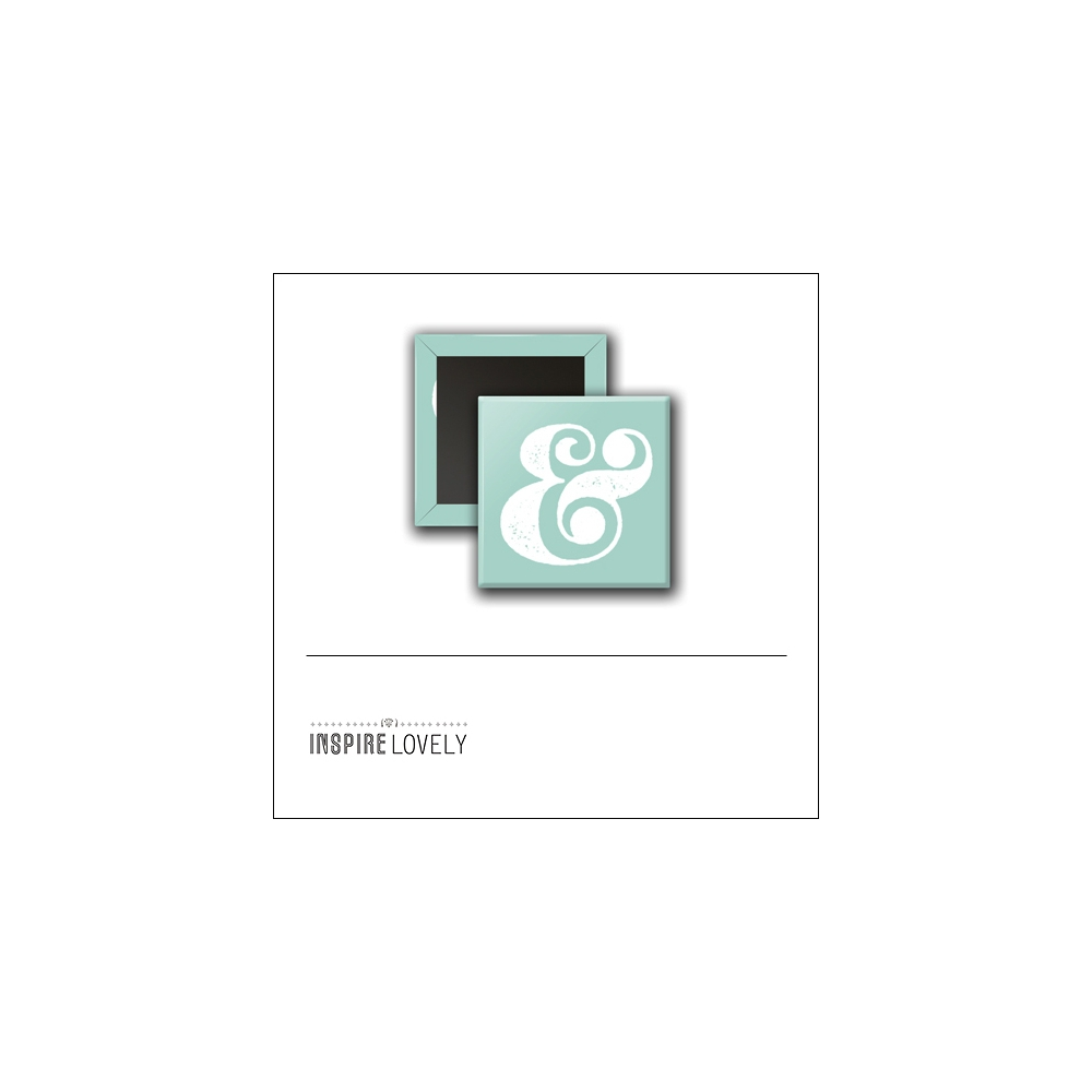 Scrapbook and More 1 inch Square Flair Badge Button Ampersand by Debee Ruiz Inspire Lovely
