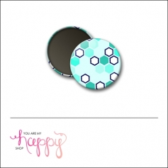 Scrapbook and More 1 inch Round Flair Badge Button Hexagons by Gentry Bartholomew