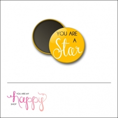 Scrapbook and More 1 inch Round Flair Badge Button You Are A Star by Gentry Bartholomew