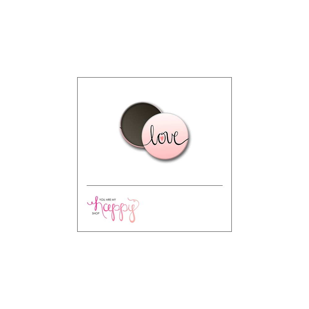 Scrapbook and More 1 inch Round Flair Badge Button Love by Gentry Bartholomew