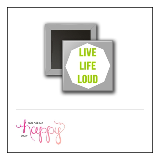 Scrapbook and More 1 inch Square Flair Badge Button Live Out Loud by Gentry Bartholomew