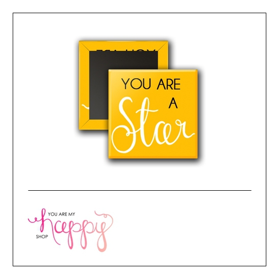 Scrapbook and More 1 inch Square Flair Badge Button You Are A Star by Gentry Bartholomew