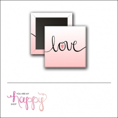 Scrapbook and More 1 inch Square Flair Badge Button Love by Gentry Bartholomew