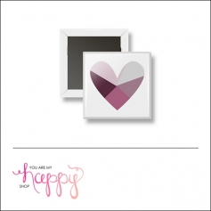 Scrapbook and More 1 inch Square Flair Badge Button Heart by Gentry Bartholomew