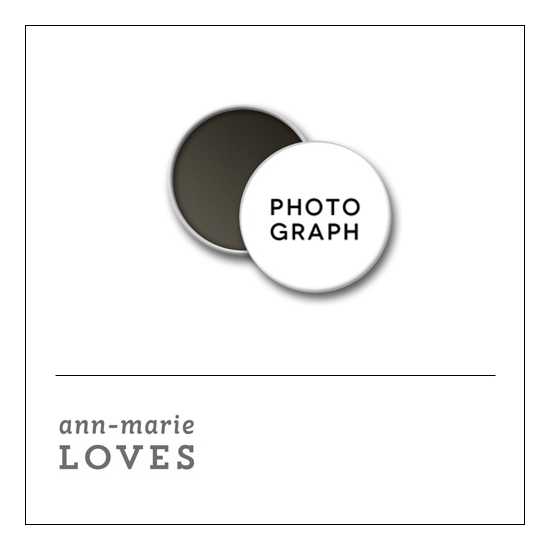 Scrapbook and More 1 inch Round Flair Badge Button White Photograph by Ann-Marie Loves