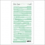 Elles Studio Letters and Numbers Stickers Mint Cienna Collection
