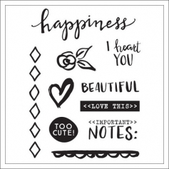 Elles Studio Clear Stamps Happiness Cienna Collection