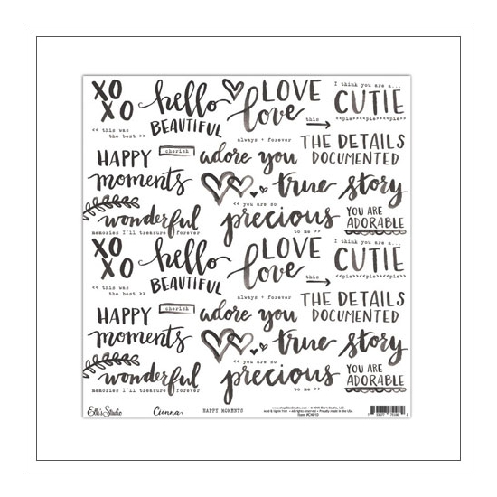 Elles Studio Vellum Paper Sheet Happy Moments Cienna Collection