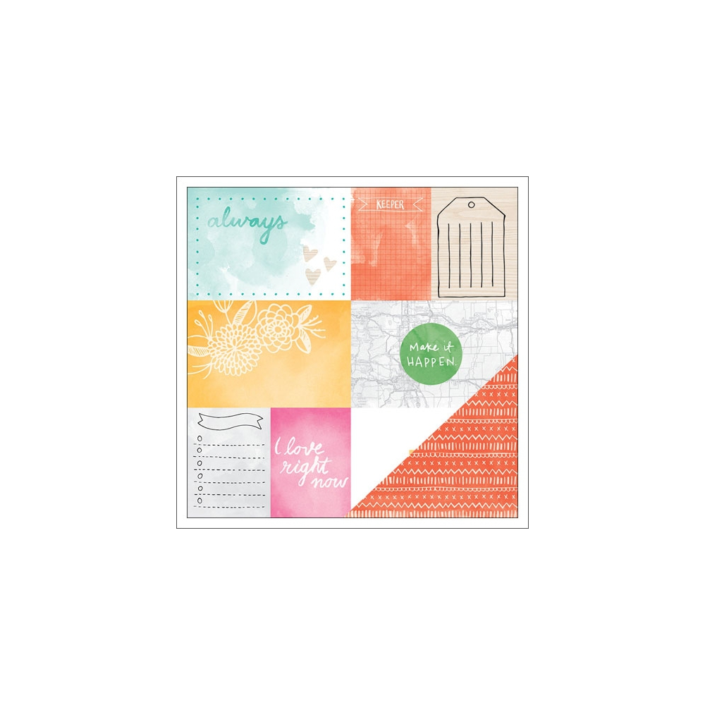 American Crafts Paper Sheet Emery Rise and Shine Collection by Amy Tangerine