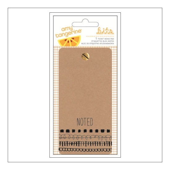 American Crafts Ticket Memo Pad Rise and Shine Collection by Amy Tangerine