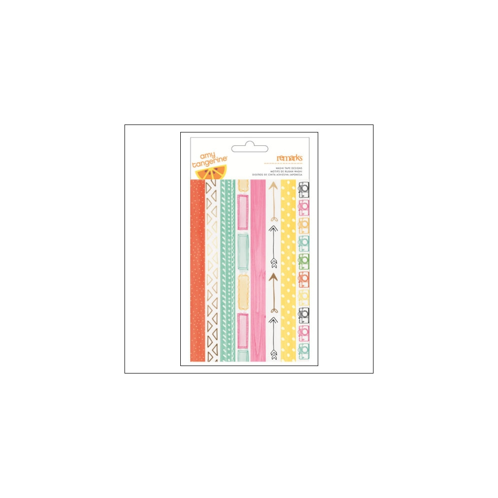 American Crafts Remarks Washi Tape Strip Sheet Rise and Shine Collection by Amy Tangerine