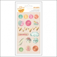 American Crafts Remarks Epoxy Stickers Rise and Shine Collection by Amy Tangerine