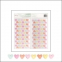 American Crafts Thickers Chipboard Letter Stickers Corlorful Confetti HeartsFine and Dandy Collection by Dear Lizzy