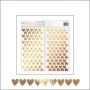 American Crafts Thickers Chipboard Letter Stickers Foil Sparkling Hearts Fine and Dandy Collection by Dear Lizzy