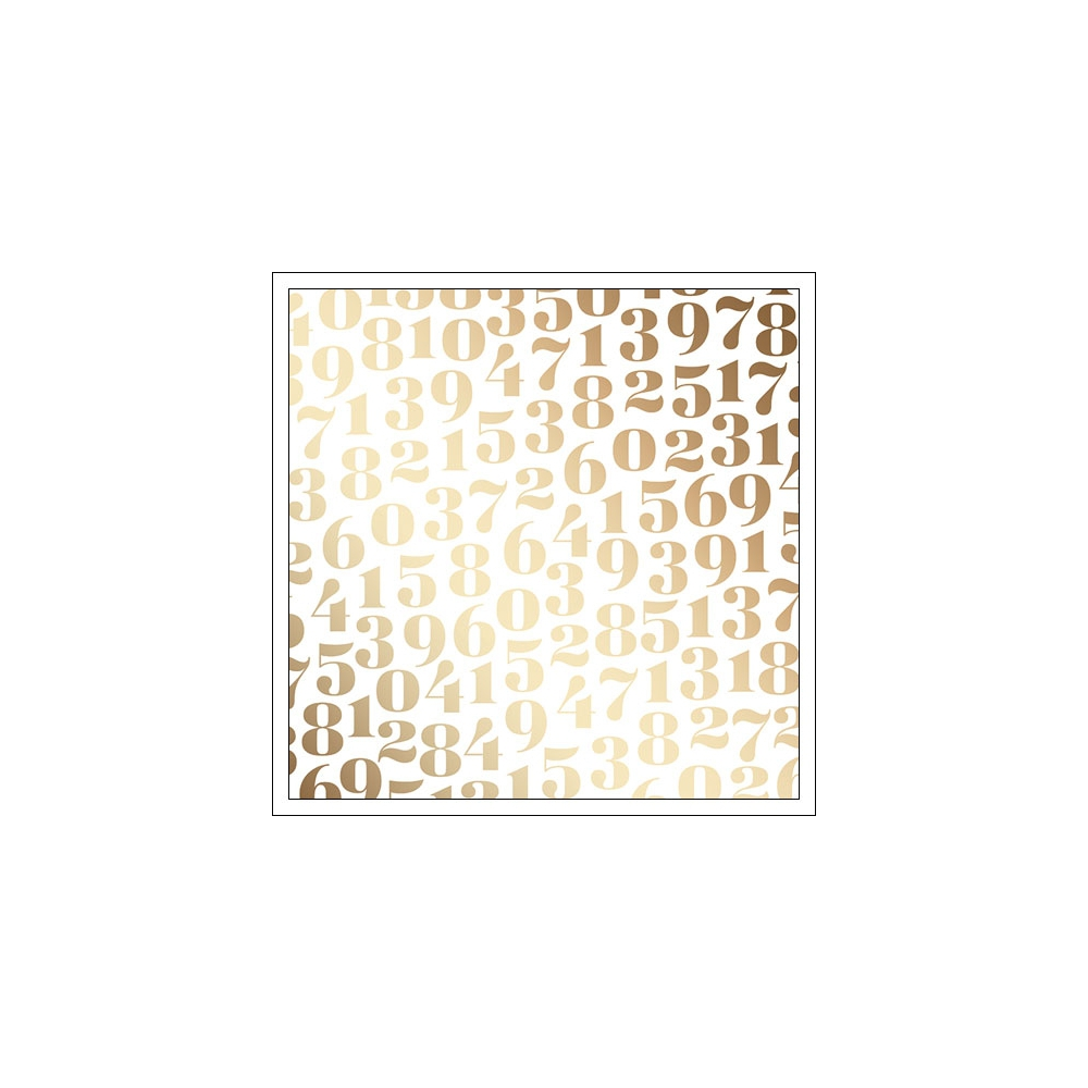 American Crafts Vellum Sheet Gold Foil Hooray Fine and Dandy Collection by Dear Lizzy