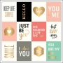 Pebbles Specialty Paper Gold Foil Accents Sweet Greetings Cottage Living Collection by Jen Hadfield