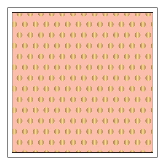 Pebbles Specialty Paper Pink Gold Dot Foil Cottage Living Collection by Jen Hadfield