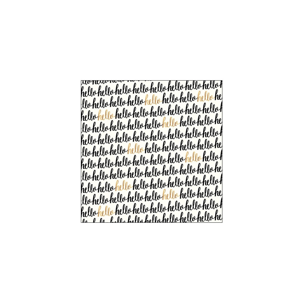 Pebbles Specialty Paper Hello Gold Foil Accents Cottage Living Collection by Jen Hadfield