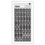 Pebbles Thickers Chipboard Letter Stickers Black and White Imprint Living Collection by Jen Hadfield