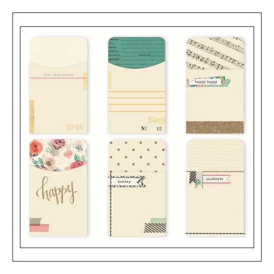 Crate Paper Embellished Pockets Confetti Collection by Maggie Holmes
