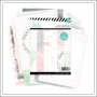 Heidi Swapp Double Sided Patterned Paper Sheet Set 6x8 inches Hello Beautiful Memory Planner Collection