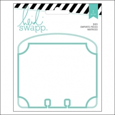 Heidi Swapp Memorydex Dividers Oval Cutting Dies Wanderlust Collection