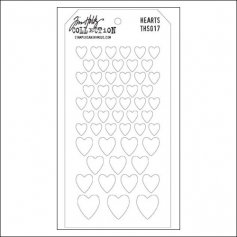 Stampers Anonymous Layering Stencil Hearts by Tim Holtz Collection