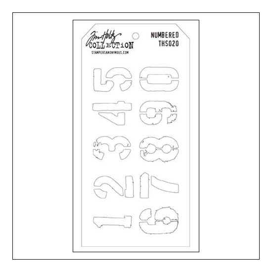 Stampers Anonymous Layering Stencil Numbered by Tim Holtz Collection