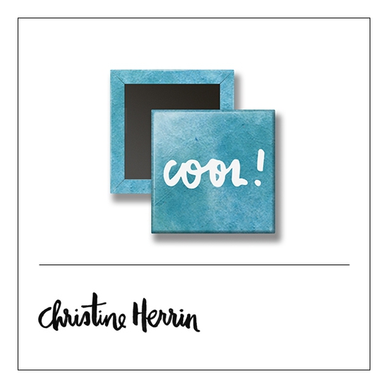 Scrapbook and More 1 inch Square Flair Badge Button Cool by Christine Herrin