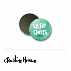 Scrapbook and More 1 inch Round Flair Badge Button Snap Shots by Christine Herrin