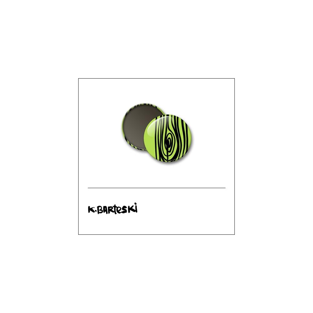 Scrapbook and More 1 inch Round Flair Badge Button Green Woodgrain by Kal Barteski