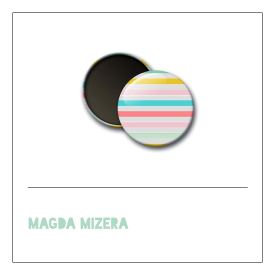Scrapbook and More 1 inch Round Flair Badge Button Summer Lines Background by Magda Mizera