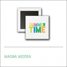 Scrapbook and More 1 Square Flair Badge Button Summer Time by Magda Mizera