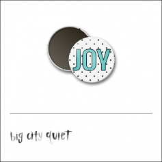 Scrapbook and More 1 inch Round Flair Badge Button Joy by Rachel Del Grosso