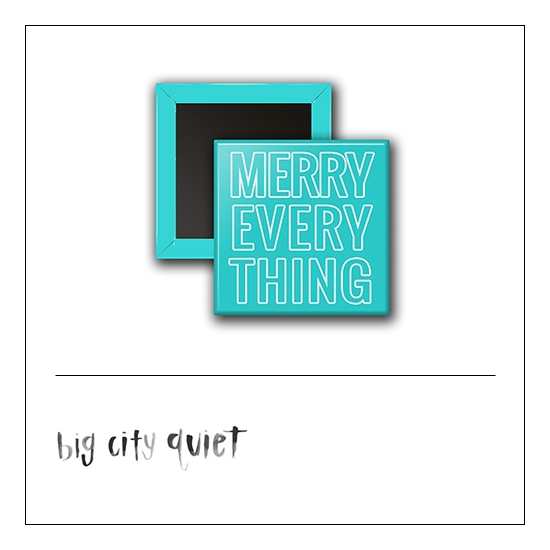 Scrapbook and More 1 inch Square Flair Badge Button Merry Everything by Rachel Del Grosso