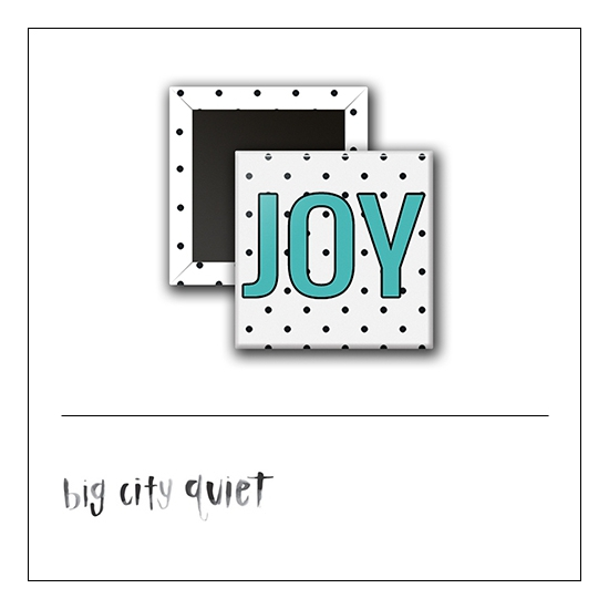 Scrapbook and More 1 inch Square Flair Badge Button Joy by Rachel Del Grosso