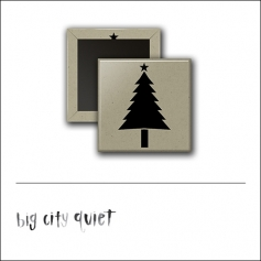 Scrapbook and More 1 inch Square Flair Badge Button Christmas Tree by Rachel Del Grosso