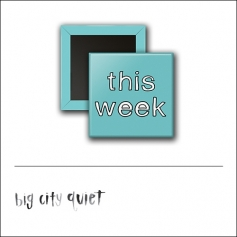 Scrapbook and More 1 inch Square Flair Badge Button This Week by Rachel Del Grosso