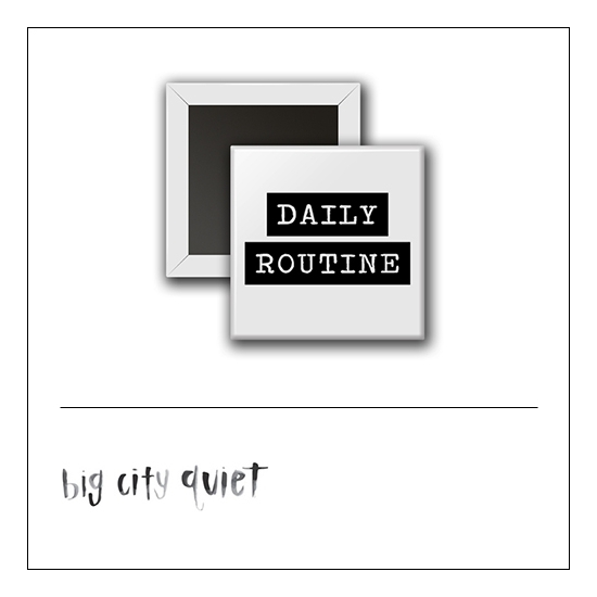 Scrapbook and More 1 inch Square Flair Badge Button Daily Routine by Rachel Del Grosso