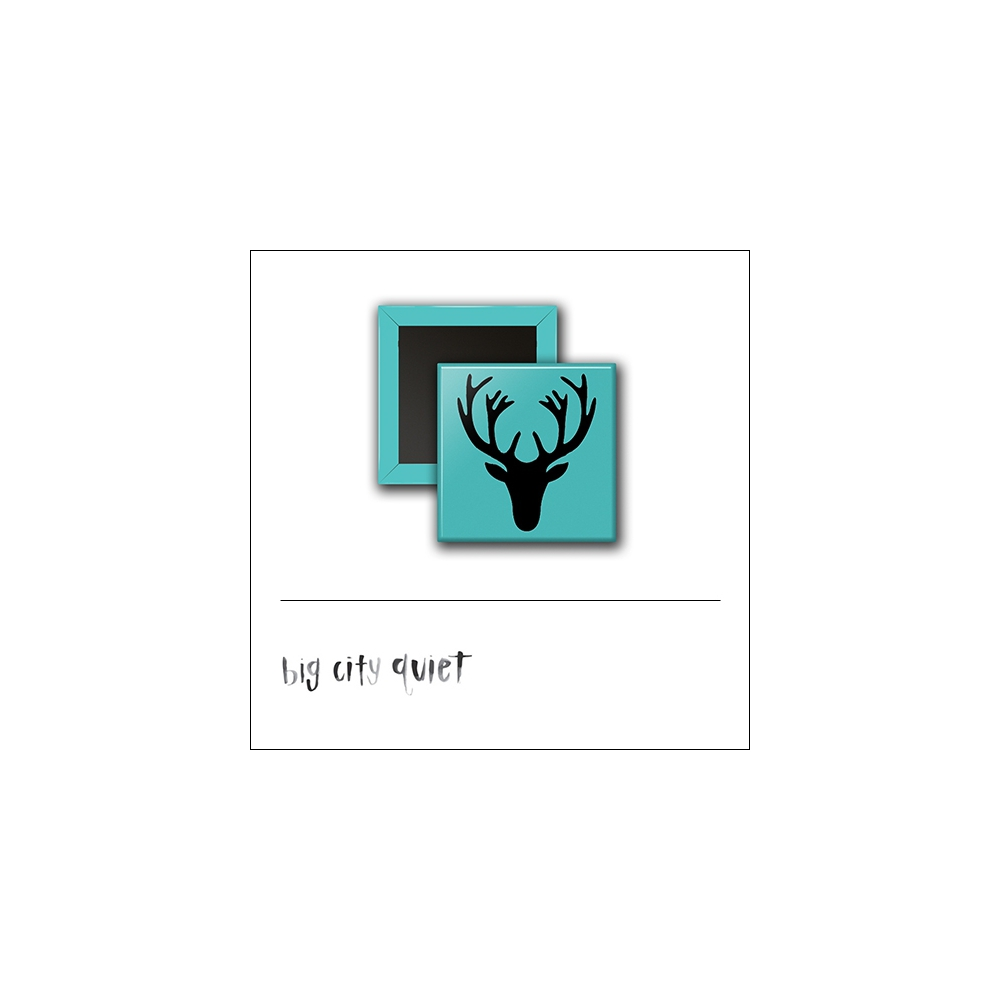 Scrapbook and More 1 inch Square Flair Badge Button Deer by Rachel Del Grosso